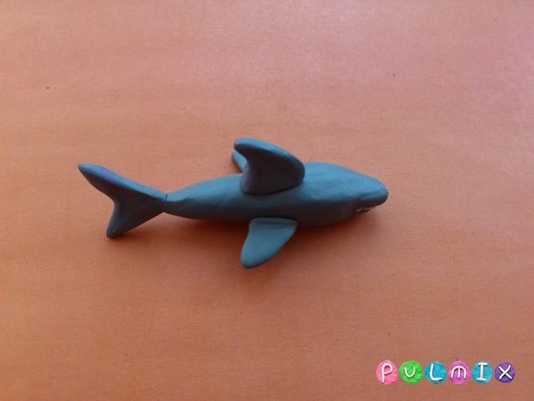 Как слепить акулу из пластилина поэтапно - шаг 7