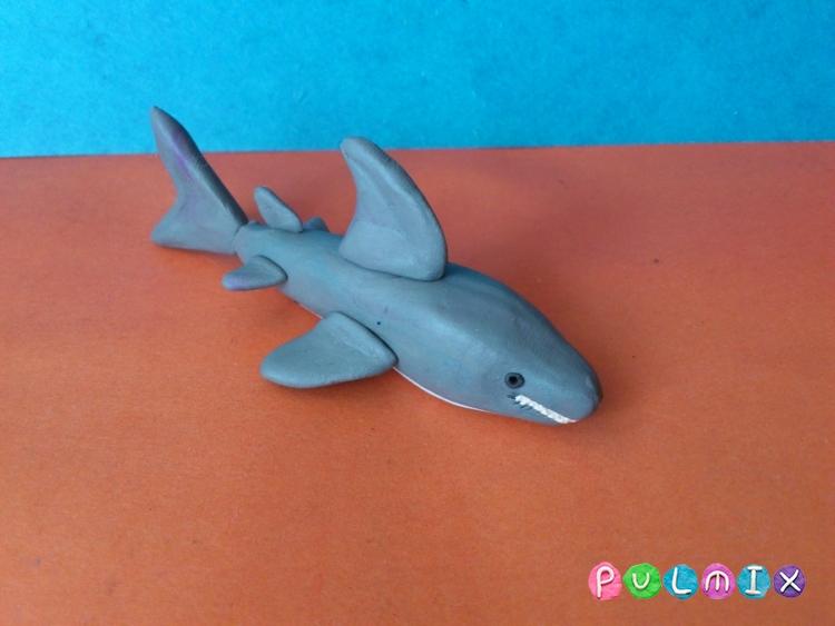 Как слепить акулу из пластилина поэтапно - шаг 8