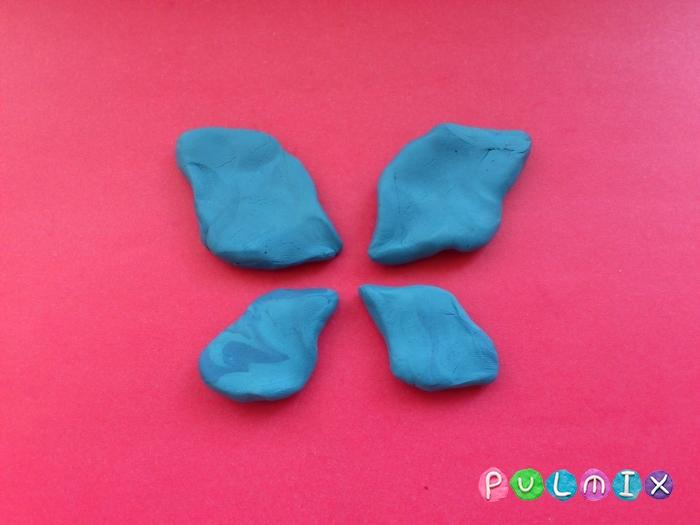 Как слепить бабочку из пластилина поэтапно - шаг 4