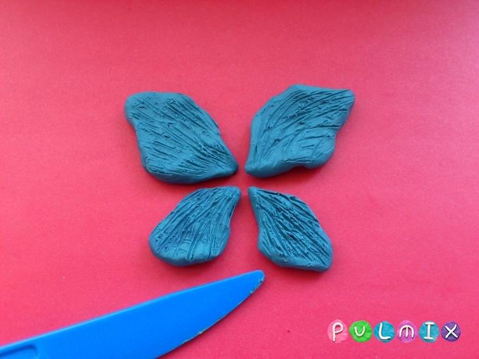 Как слепить бабочку из пластилина поэтапно - шаг 5