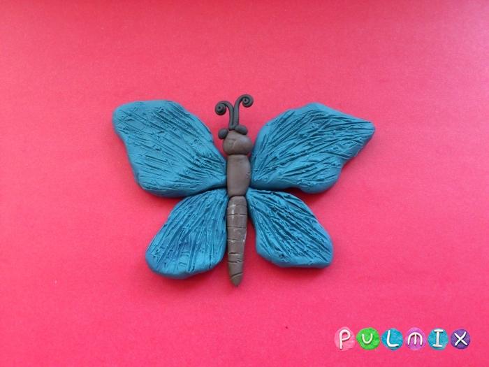 Как слепить бабочку из пластилина поэтапно - шаг 6