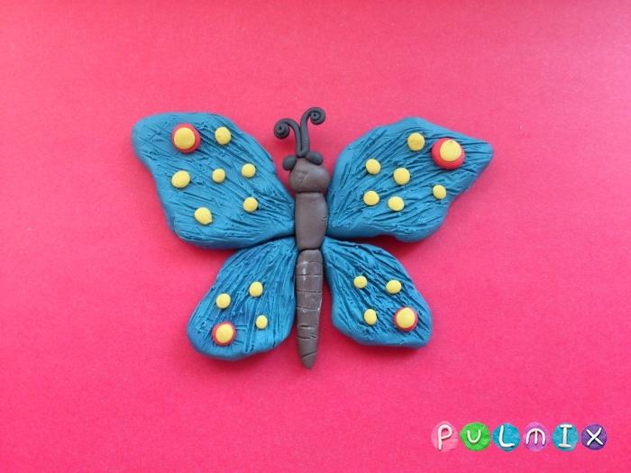 Как слепить бабочку из пластилина поэтапно - шаг 7