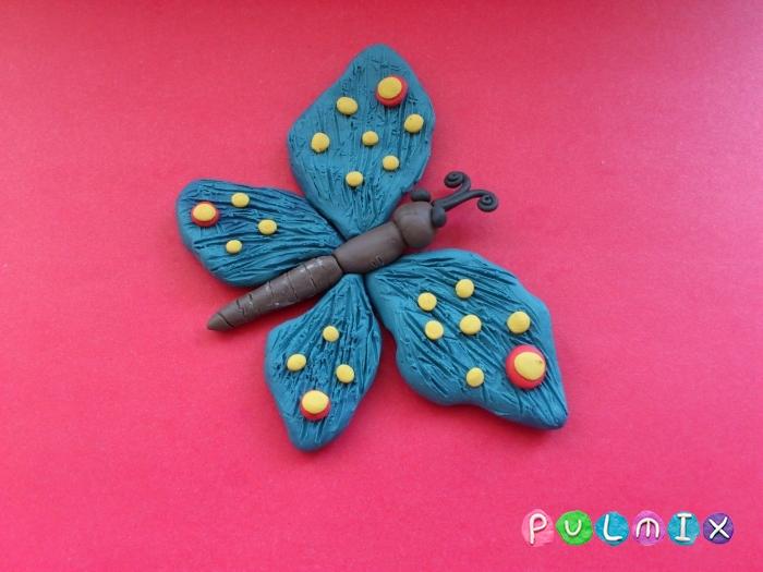 Как слепить бабочку из пластилина поэтапно - шаг 8