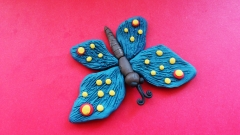Лепим из пластилина бабочку поэтапно