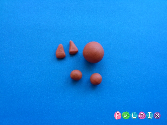 Как слепить белку из пластилина поэтапно - шаг 2