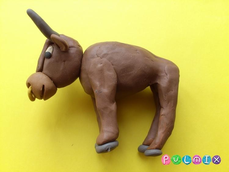 Как слепить быка из пластилина поэтапно - шаг 10
