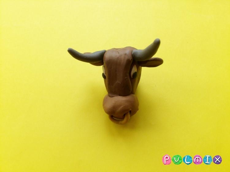 Как слепить быка из пластилина поэтапно - шаг 6