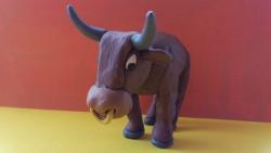 Как слепить быка из пластилина своими руками поэтапно