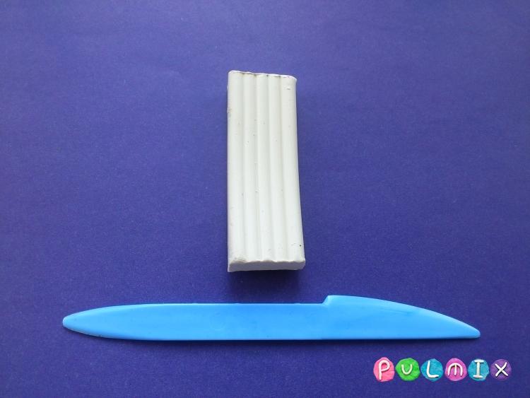 Как слепить цаплю из пластилина поэтапно - шаг 1