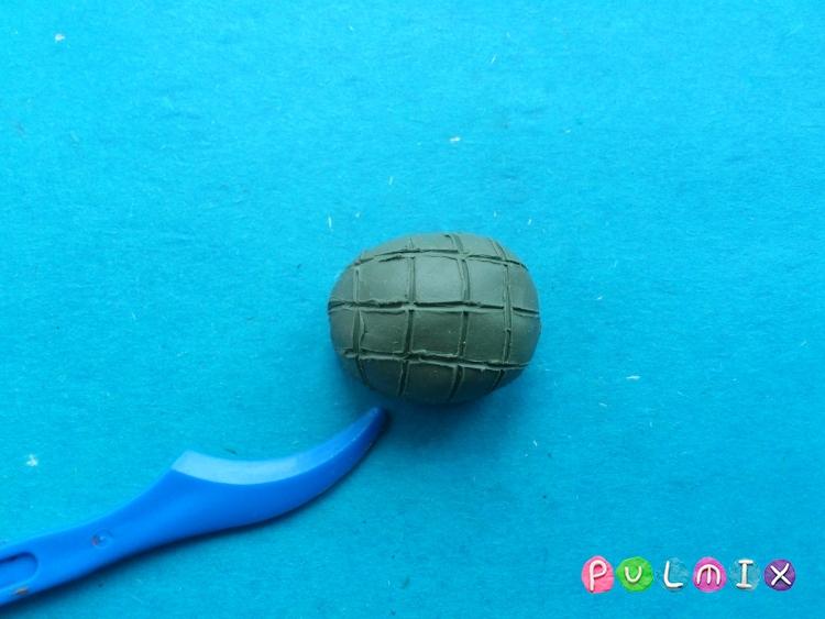 Как слепить черепаху из пластилина поэтапно - шаг 4
