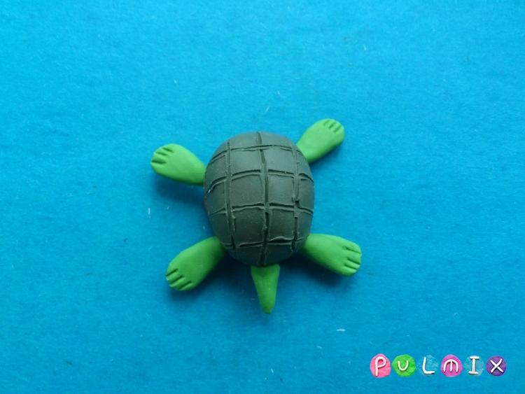 Как слепить черепаху из пластилина поэтапно - шаг 7