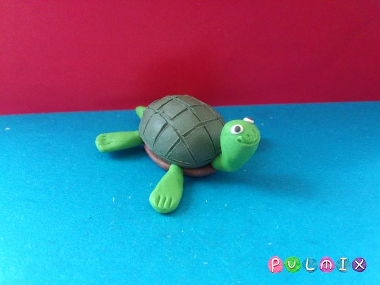 Как слепить черепаху из пластилина поэтапно - шаг 9