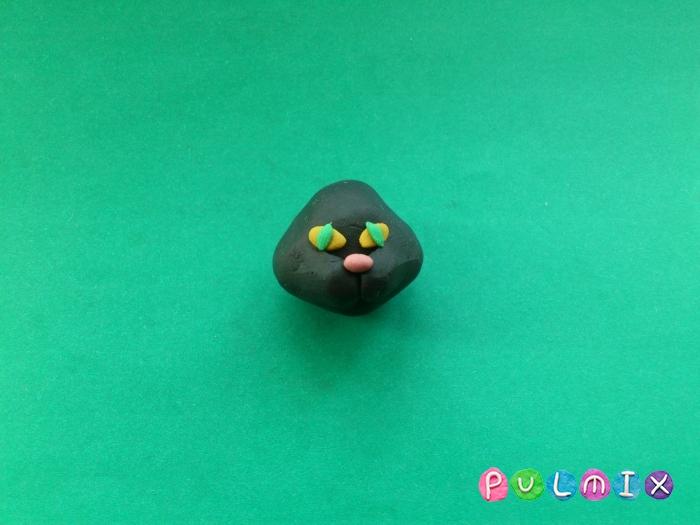 Как слепить черную кошку из пластилина поэтапно - шаг 4