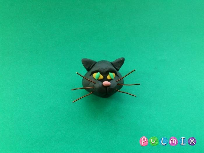 Как слепить черную кошку из пластилина поэтапно - шаг 5