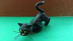 Как сделать  черную кошку