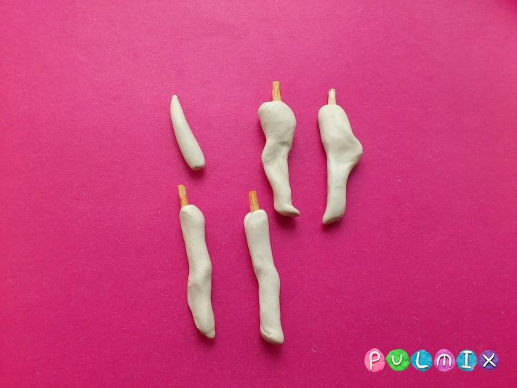 Как слепить далматинца из пластилина поэтапно - шаг 5