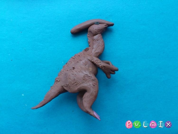 Как слепить гадрозавра из пластилина поэтапно - шаг 11