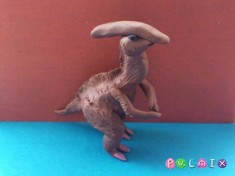 Как слепить гадрозавра из пластилина поэтапно - шаг 12