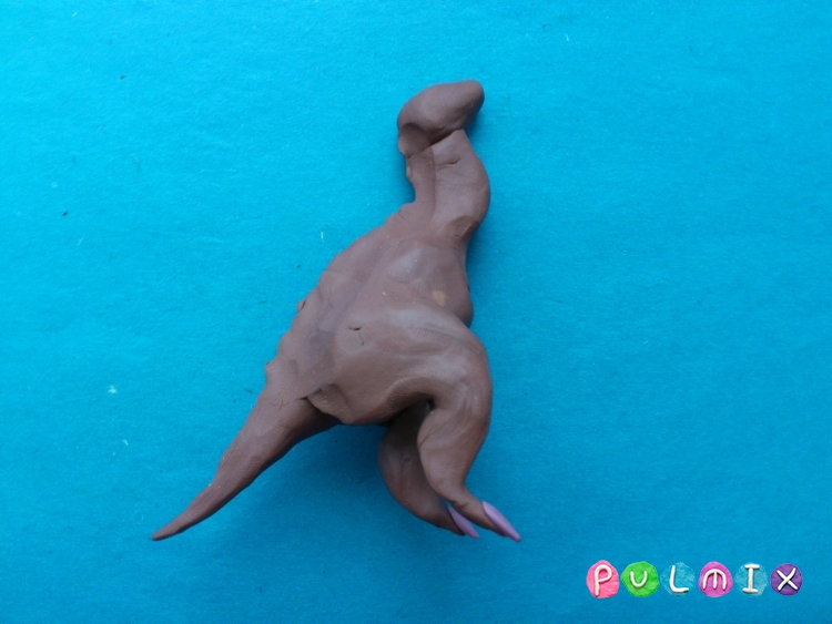 Как слепить гадрозавра из пластилина поэтапно - шаг 8