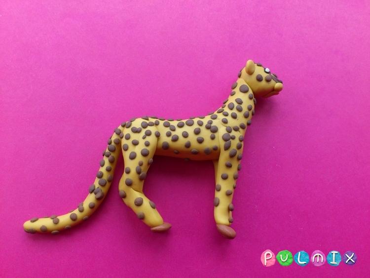 Как слепить гепарда из пластилина поэтапно - шаг 10