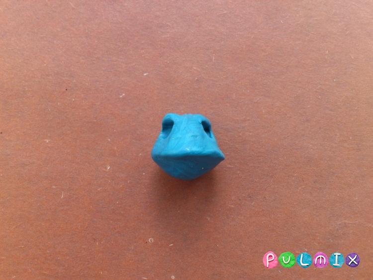 Как слепить хамелеона из пластилина поэтапно - шаг 3