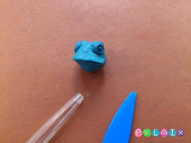 Как слепить хамелеона из пластилина поэтапно - шаг 5