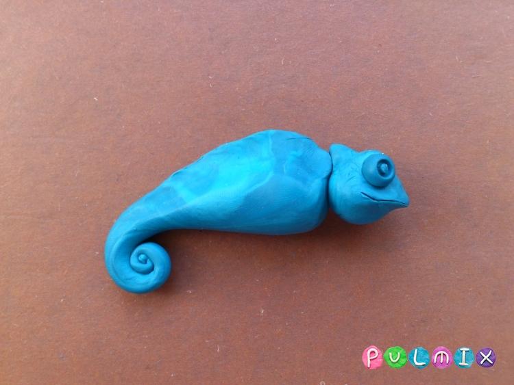 Как слепить хамелеона из пластилина поэтапно - шаг 9