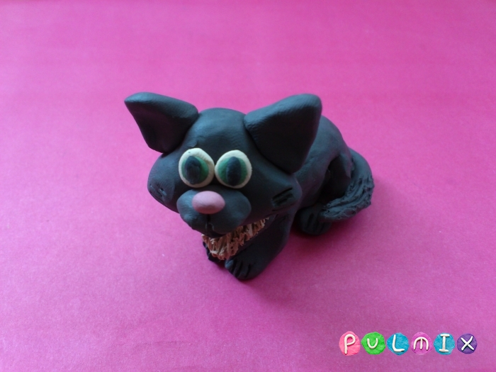 Как слепить из пластилина котенка фото урок - шаг 11