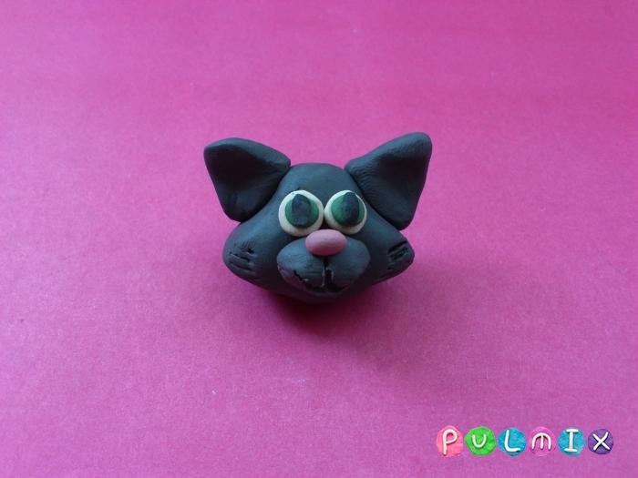 Как слепить из пластилина котенка фото урок - шаг 6