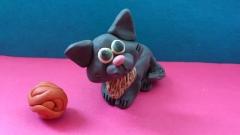 Фотография котенка из пластилина поэтапный урок