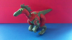Как слепить динозавра эораптора из пластилина