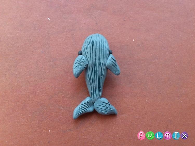 Как слепить кита из пластилина поэтапно - шаг 6