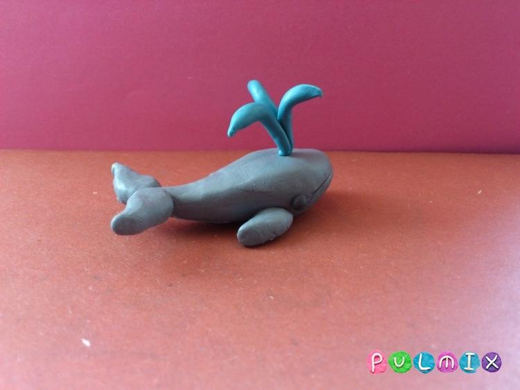Как слепить кита из пластилина поэтапно - шаг 8