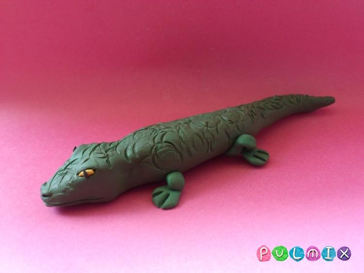 Как слепить крокодила из пластилина поэтапно - шаг 10