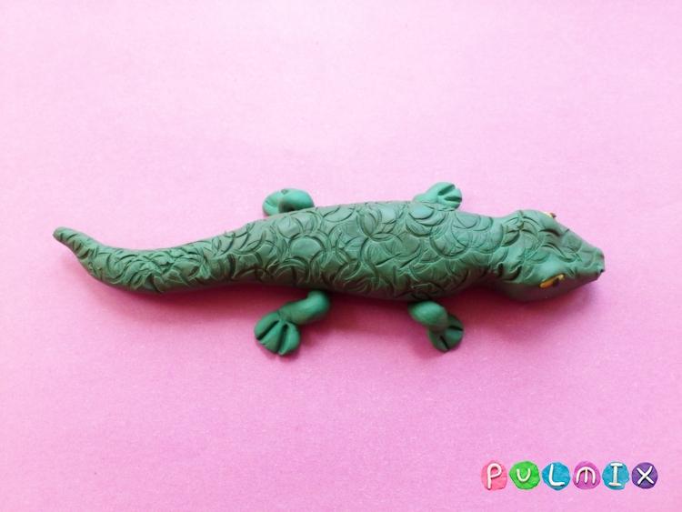 Как слепить крокодила из пластилина поэтапно - шаг 9