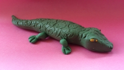 Как слепить крокодила из пластилина своими руками