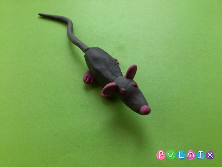 Как слепить крысу из пластилина поэтапно - шаг 8