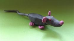 Как слепить крысу из пластилина поэтапно