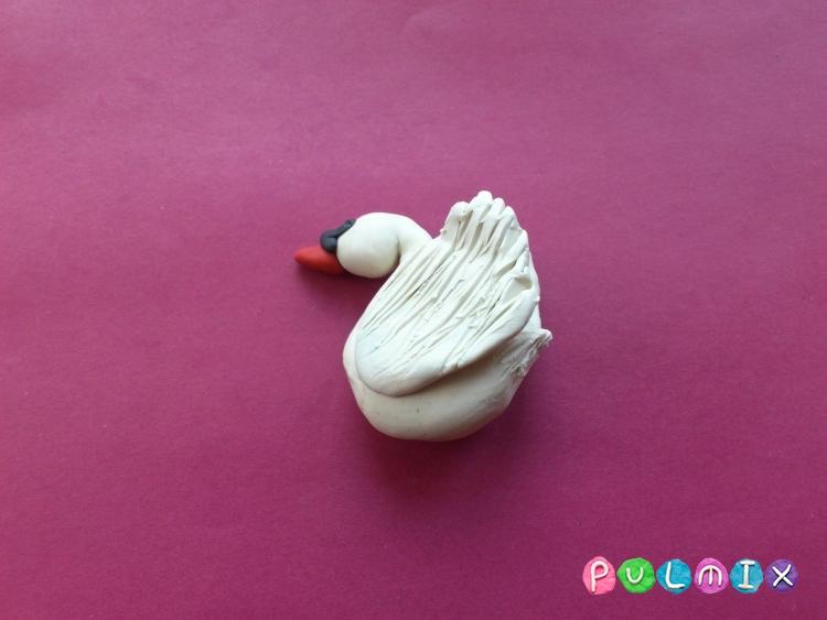 Как слепить лебедя из пластилина поэтапно - шаг 11