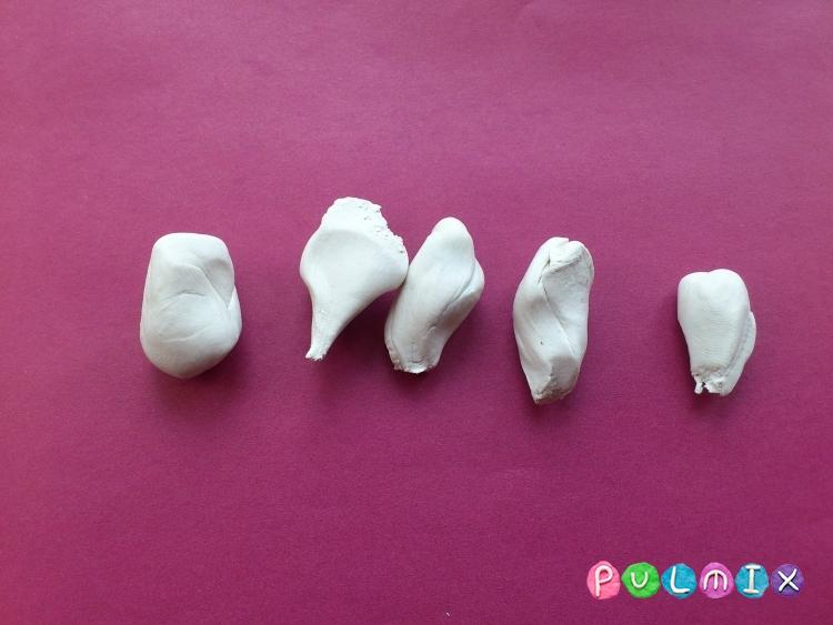 Как слепить лебедя из пластилина поэтапно - шаг 2