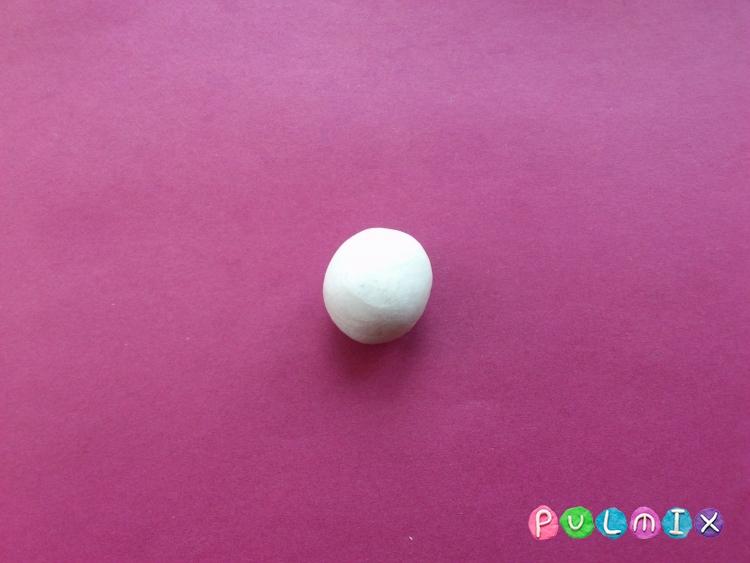 Как слепить лебедя из пластилина поэтапно - шаг 3
