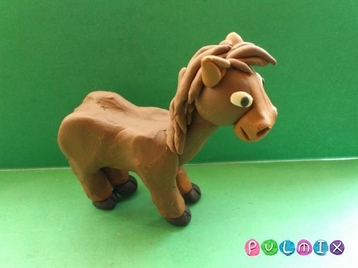 Как слепить лошадку из пластилина поэтапно - шаг 15