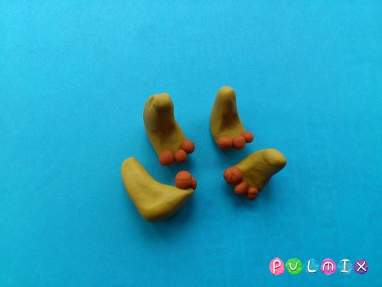 Как слепить львенка из пластилина поэтапно - шаг 8