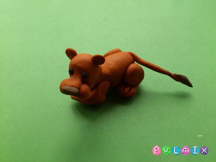 Как слепить львицу из пластилина поэтапно - шаг 10