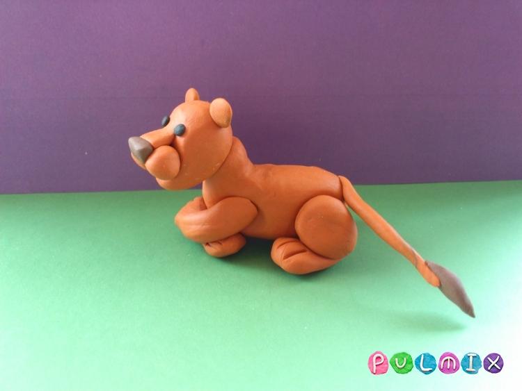 Как слепить львицу из пластилина поэтапно - шаг 11