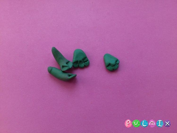 Как слепить лягушку из пластилина поэтапно - шаг 5