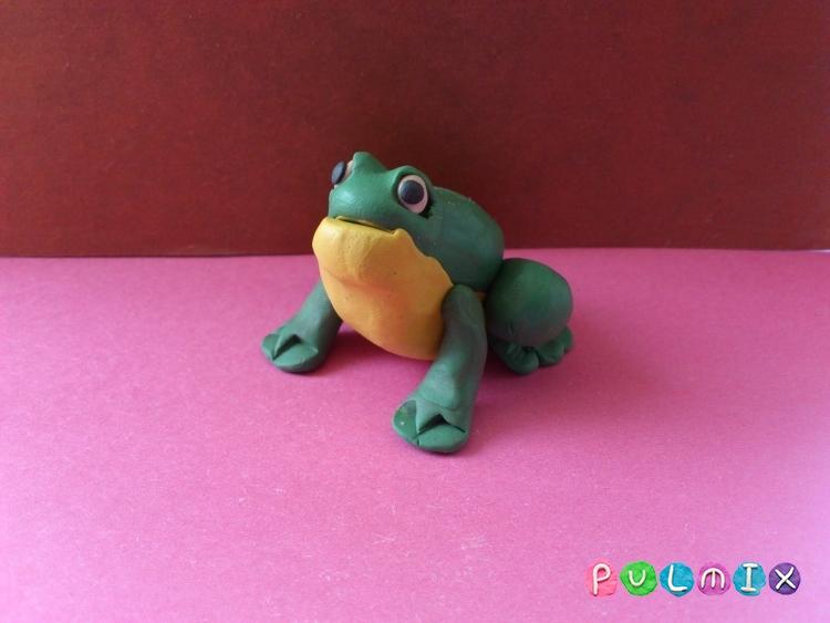 Как слепить лягушку из пластилина поэтапно - шаг 7