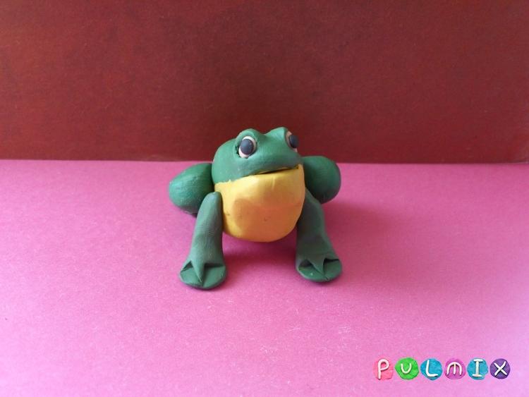Как слепить лягушку из пластилина поэтапно - шаг 8