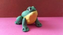 Как слепить лягушку из пластилина поэтапно