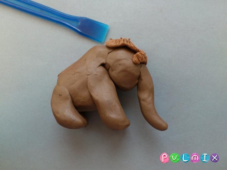 Как слепить мамонта из пластилина поэтапно - шаг 6